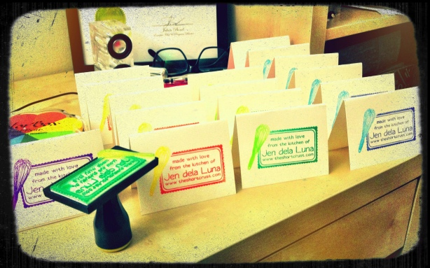 Prepping cards for all my treat boxes.