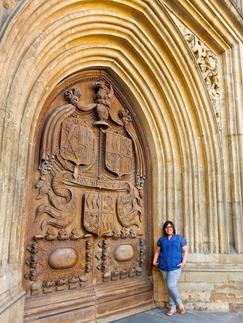 In front of the main door. (Nikon S9700)