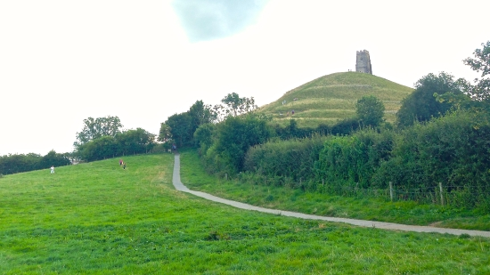 The Tor, with St. Michael's Church Tower perched atop it. (iPhone 5)