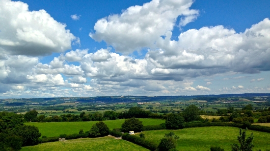 View from the Tor across the Somerset Levels. (Nikon S9700)