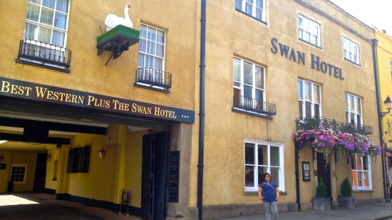 The Swan Hotel - where Sgt. Nicholas Angel lived in Hot Fuzz. (Nikon S9700)