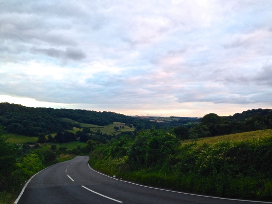 Wiltshire on one side, Somerset on the other. Photos will never do it justice. (iPhone 5)