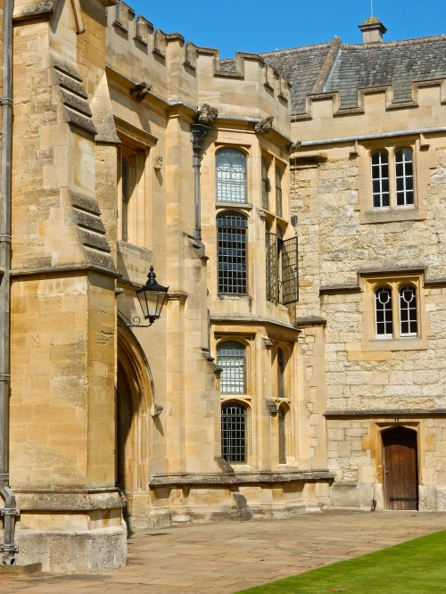 This photo may seem unassuming, but in those corner apartments, Sir Henry Savile, Warden of Merton College, and several other scholars translated and essentially created what we now know as the King James Bible. No big deal. (Nikon S9700)