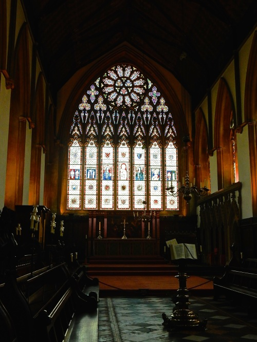 The glorious window of Merton College's chapel. The chapel itself dates back to the 13th Century. (Nikon S9700)