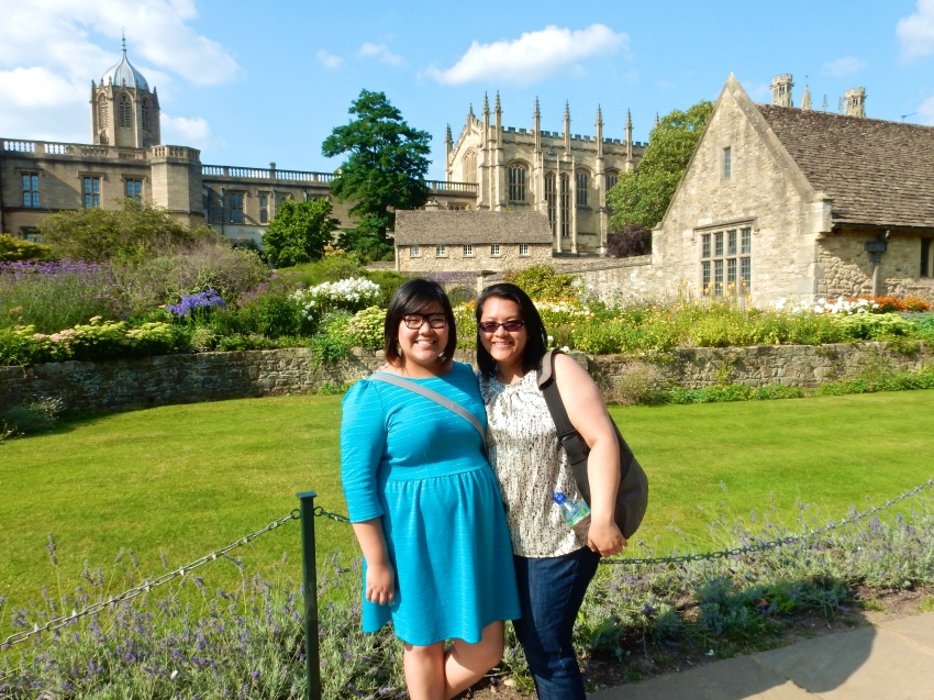 Myself and the sestra before Christ Church College. (Nikon S9700)