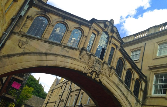 Though it looks nothing like its Venetian counterpart, Hertford Bridge is known as the Bridge of Sighs here in Oxford. (iPhone 5)