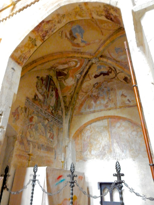 12th Century - yes, 12th CENTURY - paintings! Uncovered in the 1960s, these are contained within the Holy Sepulchre Chapel and are fine, fine, fine survivals from the period. Amazing to see in person.
