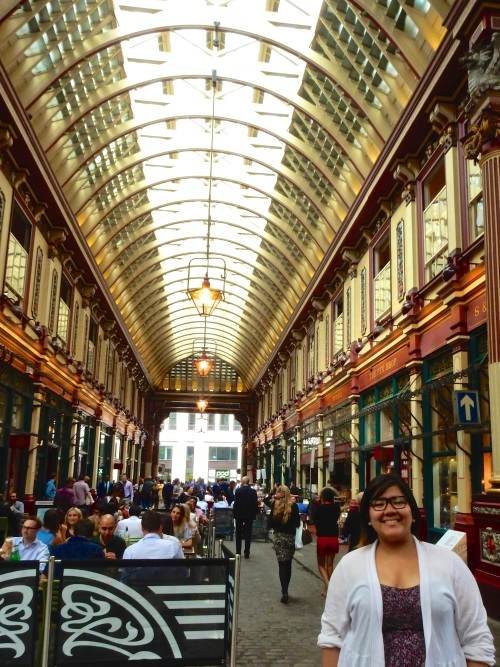 Leadenhall, with Jen. (Nikon S9700)