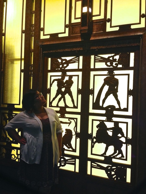 One of Selfridges' two antique 1920s elevators. These Art Deco elevators were famous and even had glamorous ladies whose full time job was operating it up and down!