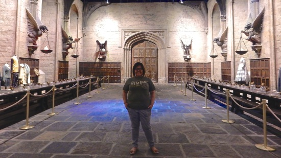 Standing in my alma mater's Great Hall.