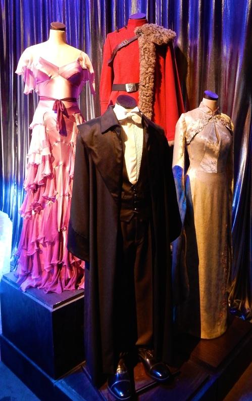 Costumes belonging to Emma Watson, Stan Ianevski, Katie Leung and Dan Radcliffe for the Yule Ball.