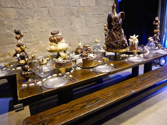 CHOCOLATE BUFFET! Some of these are actually real chocolate that's just been preserved!