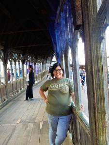 The Hogwarts Bridge, where Neville Longbottom makes his badass stand in DH2.