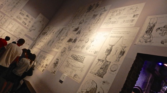 One of the final rooms was filled with blueprints covering all the walls.