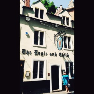 The Eagle & Child, Tolkien & Lewis' old haunt, Oxford, England, July 2014.