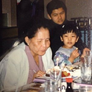 Grandma & I (with my brother in the background).