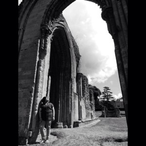 Glastonbury Abbey, UK. July 2014.